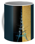 Eiffel Tower In Blue Abstract Coffee Mug