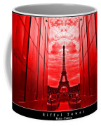 Eiffel Tower In Red Coffee Mug