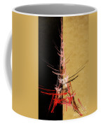 Eiffel Tower In Red On Gold  Abstract  Coffee Mug