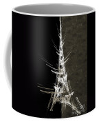 Eiffel Tower In White Bw 2 Abstract Coffee Mug