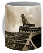 Eiffel Tower Paris France Black And White Coffee Mug