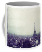 Eiffel Tower Paris Polaroid Transfer Coffee Mug by Jane Linders