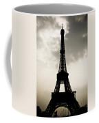 Eiffel Tower Silhouette Coffee Mug by Nila Newsom