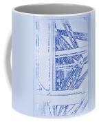Eiffel Towers Steel Frame Blueprint Coffee Mug
