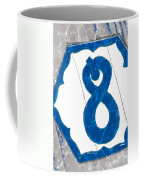 Eight Blue Tile Coffee Mug