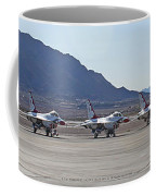 Eight F-16 Thunderbird Falcon's On Static Display Nellis Coffee Mug