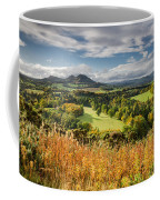 Eildon Hills In Autumn Coffee Mug