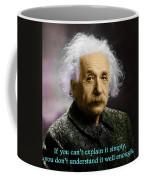 Einstein Explanation Coffee Mug
