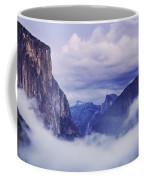 El Capitan Rises Above The Clouds Coffee Mug