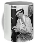 Eleanor Roosevelt Knitting Coffee Mug by Underwood Archives