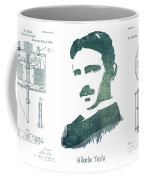 Electric Arc Lamp Patent Art Nikola Tesla Coffee Mug