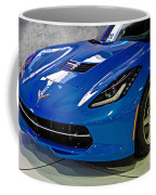 Electric Blue Corvette Coffee Mug
