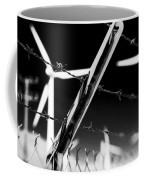 Electric Fence Black And White Coffee Mug