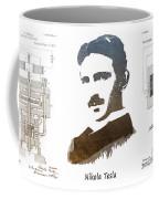 electric generator patent art Nikola Tesla Coffee Mug