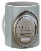 Electric Power Supply Watthour Meter Glass Covered Coffee Mug