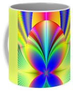 Electric Rainbow Orb Fractal Coffee Mug