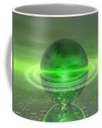 Electronic Green Saturn Coffee Mug