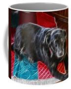 Electrostatic Dog And Blanket Coffee Mug