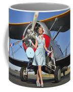 Elegant 1940s Style Pin-up Girl Coffee Mug