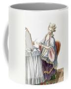 Elegant Lady At Her Dressing Table Coffee Mug by Pierre Thomas Le Clerc
