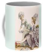 Elegant Lady Having Her Feet Washed Coffee Mug