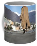 Elegant Woman Walking Coffee Mug
