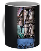 Elemental City - Fire Escape Graffiti Brownstone Coffee Mug