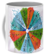 Elements With Zodiac Signs Coffee Mug