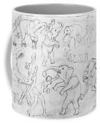 Elephant Acts, 1880s Coffee Mug