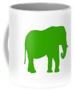 Elephant In Green And White Coffee Mug