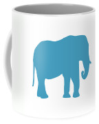 Elephant In White And Turquoise Coffee Mug