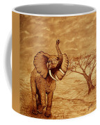 Elephant Majesty Original Coffee Painting Coffee Mug