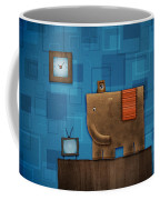 Elephant On The Wall Coffee Mug by Gianfranco Weiss