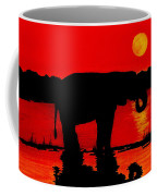 Elephant Silhouette African Sunset Coffee Mug