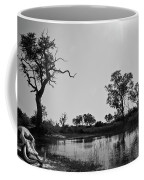Elephant Skull On Riverbank, Okavango Coffee Mug