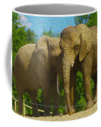 Elephant Snuggle Coffee Mug