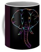 Elephant Watercolors - Black Coffee Mug