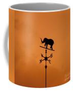 Elephant Weathervane Sunset Coffee Mug
