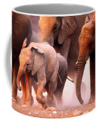 Elephants Stampede Coffee Mug