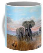 Elephants Warning To The Lions Coffee Mug
