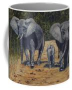 Elephants With Calf Coffee Mug