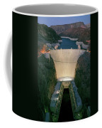 Elevated View At Dusk Of Hoover Dam Coffee Mug
