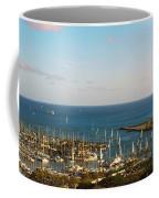 Elevated View Of Boats At A Harbor Coffee Mug