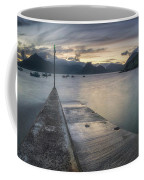 Elgol Pier And Boats With Cuillin Coffee Mug