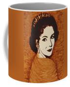 Elizabeth Taylor Original Coffee Painting On Paper Coffee Mug