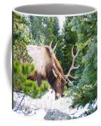 Elk In Snow Coffee Mug