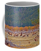 Elk Near Cub Lake Trail In Rocky Mountain National Park-colorado  Coffee Mug