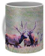 Elk On The Plains 2 Coffee Mug