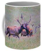 Elk On The Plains 3 Coffee Mug