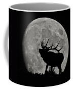 Elk Silhouette On Moon Coffee Mug